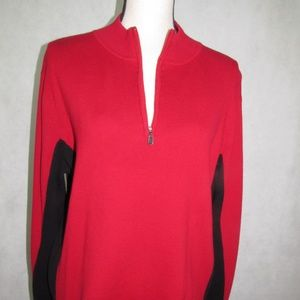 Style & Co Woman Sweater Size 2X Red Long Sleeve